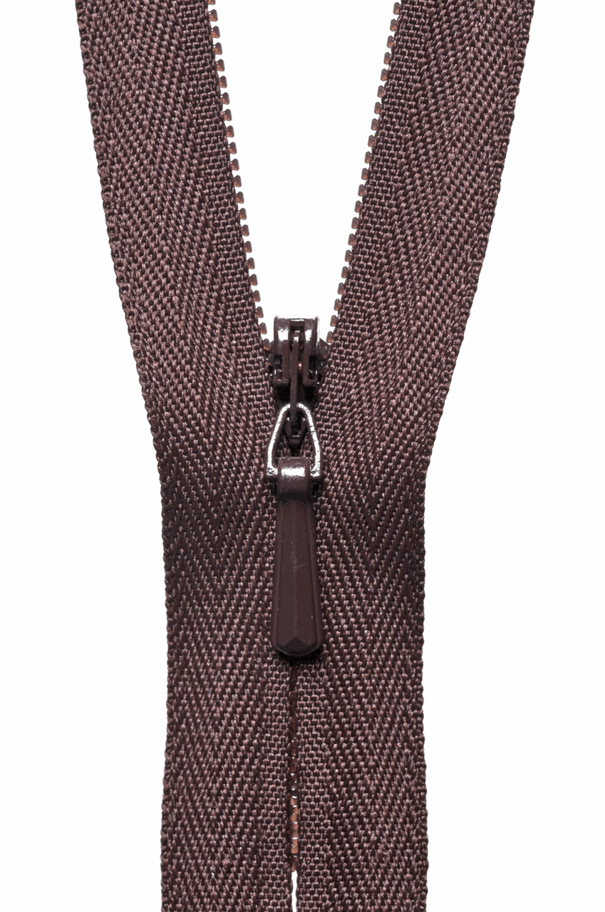 Picture of Concealed Zip: 20cm: Brown