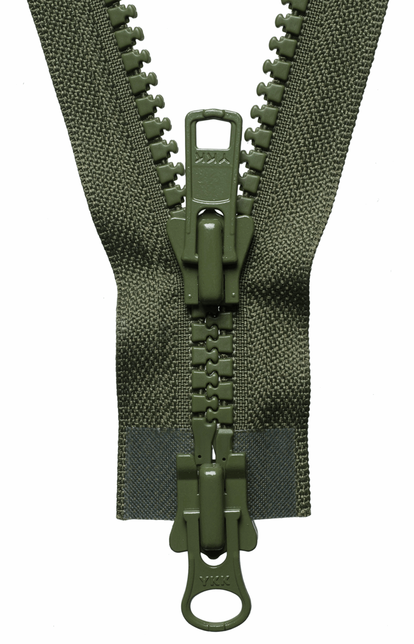 Picture of Vislon Heavy Two-Way Open End Zip: 76cm: Khaki
