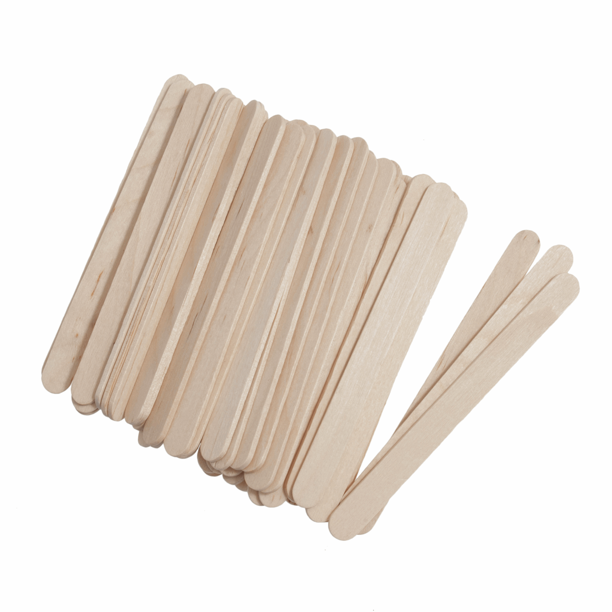 Picture of Lollypop Sticks: Wooden: 113 x 10mm: Pack of 100: Natural