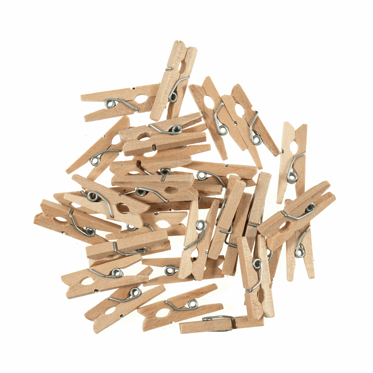 Picture of Clothes Pegs: Wooden: Natural