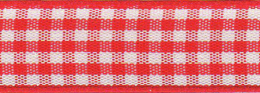 Picture of Gingham: 20m x 5mm: Red