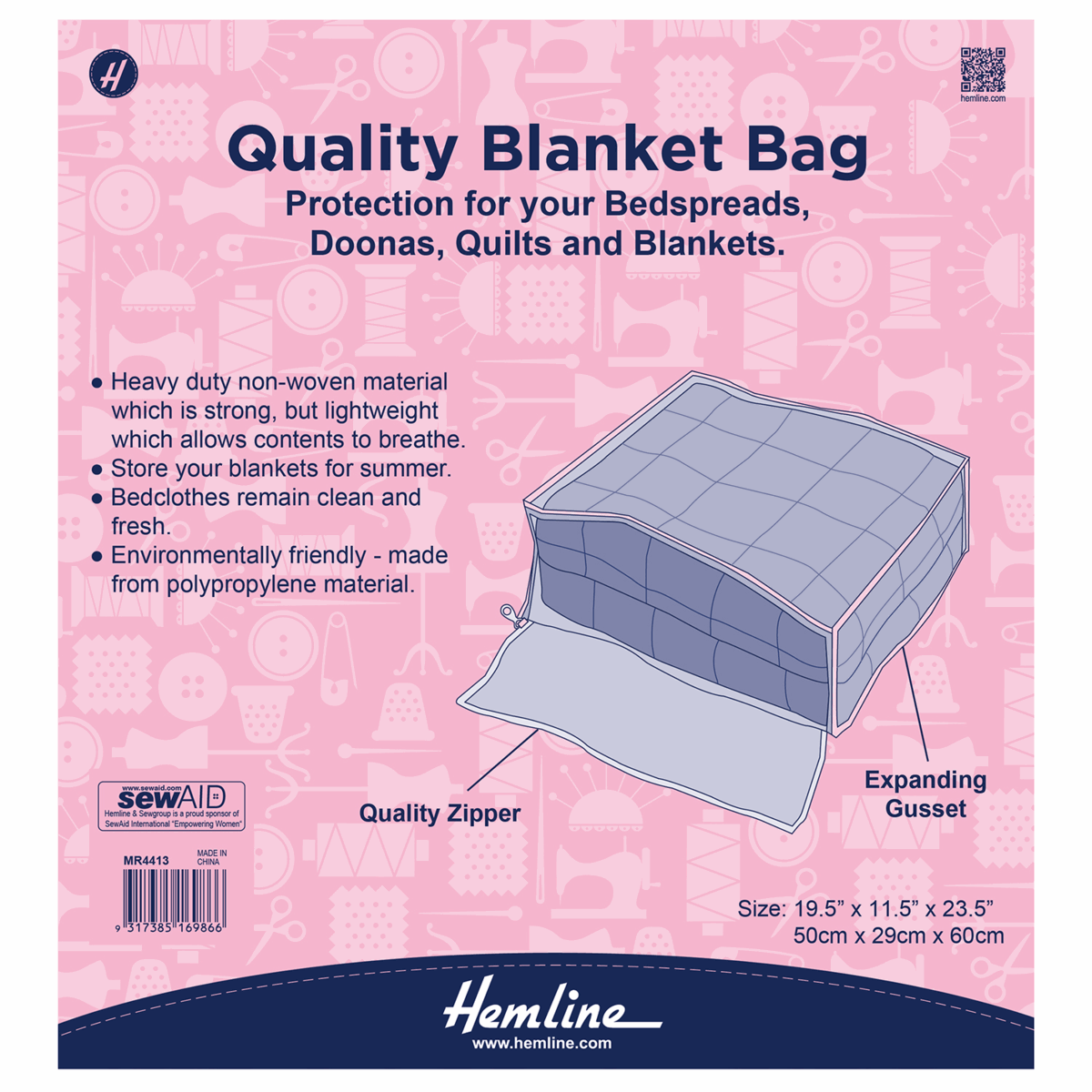 Picture of Blanket Bag - 50 x 29 x 60cm