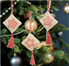 Picture of Counted Cross Stitch Kits: Christmas Decorations: Stars: Rose Gold