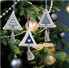 Picture of Counted Cross Stitch Kits: Christmas Decorations: Trees: Ice Blue