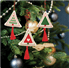 Picture of Counted Cross Stitch Kits: Christmas Decorations: Trees Green/Red
