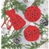 Picture of Crochet Kit: Christmas Tree Decorations: Red