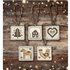 Picture of Counted Cross Stitch Kit: Christmas Tag/Decorations: Black/Gold