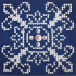 Picture of Diamond Painting Kit: White on Blue