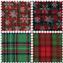 Picture of Fat Quarter Bundle: Printed Christmas Tartan: 4 Pieces: Greens