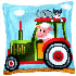 Picture of Cross Stitch Kit: Cushion: Tractor 1