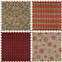 Picture of Counter Display Unit: Christmas Fabric Roll: 2m x 28cm: 24 Rolls: Red/Green/Tartan