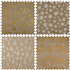 Picture of Counter Display Unit: Christmas Fabric Roll: 2m x 28cm: 24 Rolls: White/Gold/Silver